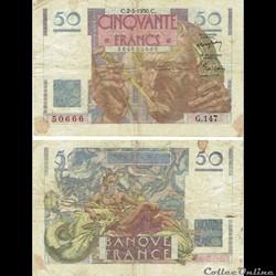 """50 francs type 1946 """"Le Verrier"""""""