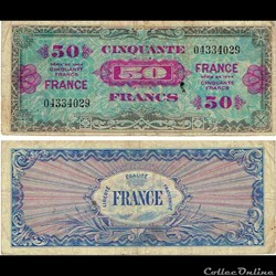 "50 francs type 1945 ""Fabrication américa..."