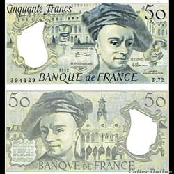 """50 francs type 1976 """"Quentin de La Tour"""""""