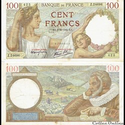 24 - 100 Francs Sully  1941