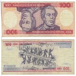 100 Cruzeiros type D. De Caxias