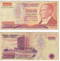 TURQUIE  20000 Lire turque