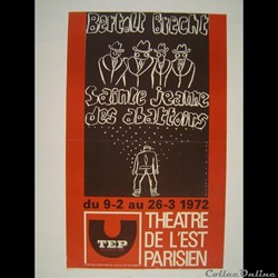 Théâtre de l'Est Parisien, Sainte Jeanne des abattoirs (1972)