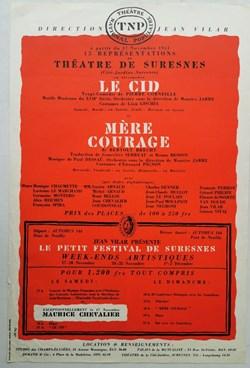 TNP, Le Cid et Mère Courage (1951)