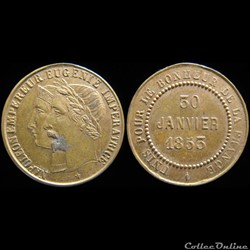 Médaillettes commémoratives de Napoléon ...