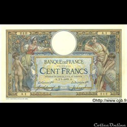 "100 francs Merson - 1908 ""LOM 02"""