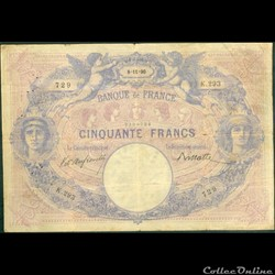50 francs Bleu & Rose - 1890