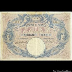 50 francs Bleu & Rose - 1891