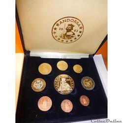 Monnaies Andorre, coffret essai euro 2003