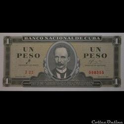 Billets Cubain 1961