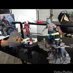 Statues de comics et films