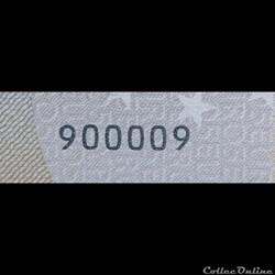 Billets Euros - Numérotation spéciale