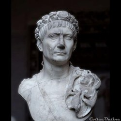 Trajan, né sous le nom deMarcus Ulpius Traianusle18 septembre53après J-C àItalicaou àRomeet mort le8ou9 août117àSelinus, enCilicie, estempereur romainde fin janvier98à août117. À sa mort, il porte le nom et lessurnomsd'Imperator...