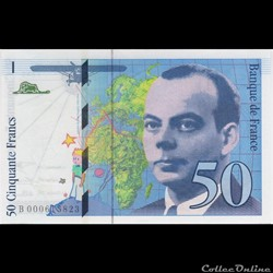 F72 ( 50 FRANCS SAINT-EXUPERY Type 1992 )