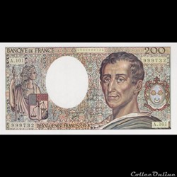 F70 (200 FRANCS MONTESQUIEU Type 1981)