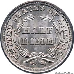 Half Dime (1837-1873)- Seated Liberty US...