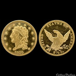 Gold Quarter Eagle Dollars