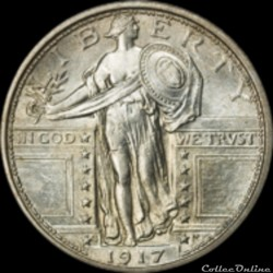 Stand. Liberty Quarters (1916-1930) - 25 Cents USA