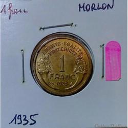 Série 1 franc Morlon avec variétés et changement de type