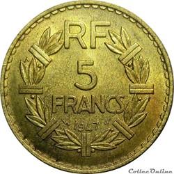 5 francs rares