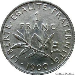 1 franc rares