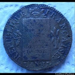 Monnaies de la Révolution Française convention et directoire
