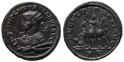 Attribution and order of display of Probus coins from the mint of Rome is based on the work of Jean Guillemain: La monetazione di Probo a Roma (276-282 d.C.), Rome,...