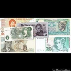 Les billets étrangers