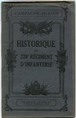 HISTORIQUE RÉGIMENTS - GUERRE 1914 -1918