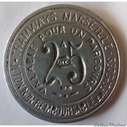 Monnaies de nécessité/Jetons/Médailles Marseille
