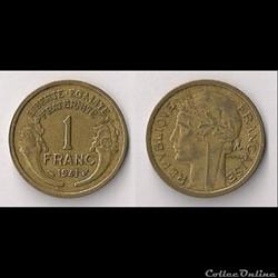 Monnaies Françaises Etat Français 1940-1944