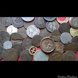 Monnaies avec contremarques publicitaires ou revendicatives