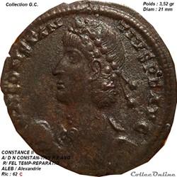 CONSTANCE II : 7 août 317 ap. J.-C., /: 3 novembre 361 ap. J.-C., Mopsueste, Turquie
