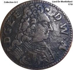 Monnaies  Montbéliard ( duché Wurtemberg)