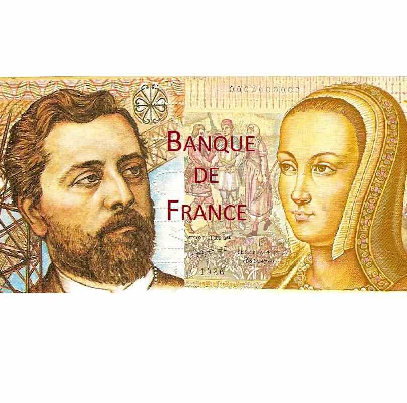 Censo de la Banque de France (billetes de identificación, trazabilidad, rareza ...)