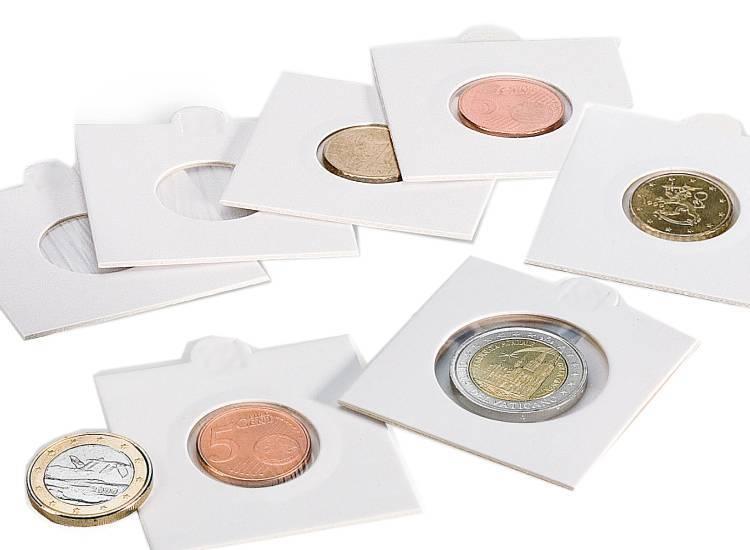 Etuis carton pour pièces de monnaies de collection