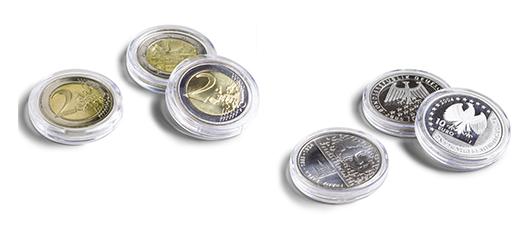 Capsules de rangement pour monnaies, médailles, jetons...