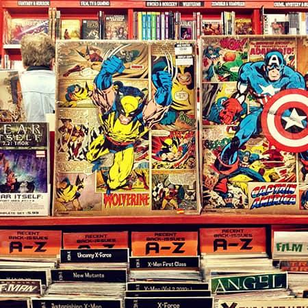 Livros, História em quadrinhos, Revistas